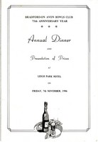 Click for a larger image of 1986 Club Dinner Menu