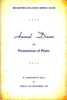 Click for a larger image of 1978 Club Dinner Menu