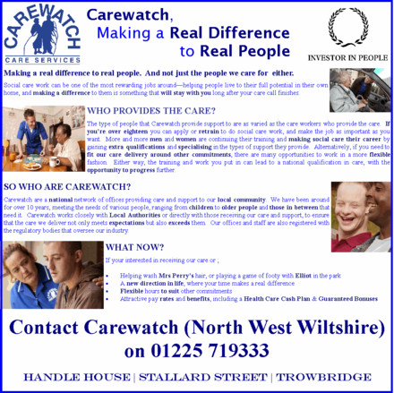 A picture for Carewatch-North-West-Wiltshire