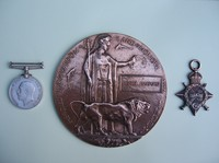 Click for a larger image of First World War Medals